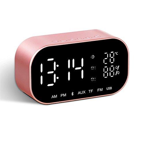 LXF Bluetooth Lautsprecher Wireless Portable Radio Startseite Outdoor Auto Mobile Wecker Kleine Sound Voice Prompt, Farbe optional. (Farbe : Pink)