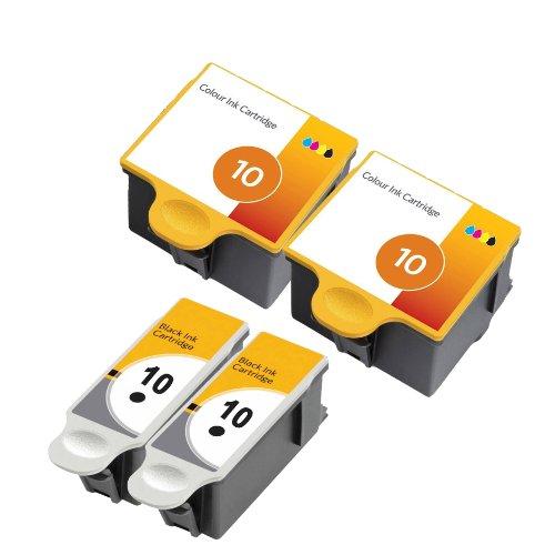 Preisvergleich Produktbild 4 x XL Druckerpatrone kompatibel für Kodak 10 Black , 10 Color