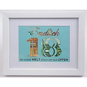 Endlich 18, Geldgeschenk zum Geburtstag, 18. Geburtstag