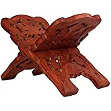 TRUSTSHOPPEE Wooden Hand Carved HOLY Book Stand For Quran,Bible,GITA,VED,GURU Granth Sahib
