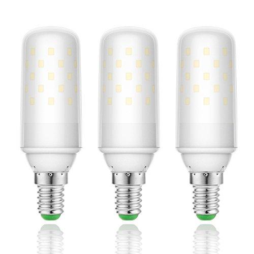 LOHAS 9Watt E14 LED Kerze Lampen, 1000lm, 80Watt Glühlampe äquivalent, Warmweiß 2700K, Nicht Dimmbar, Kleine Edison Schraube Kerze Glühbirnen, 220-240V AC, 3er Pack (Led-belegungs-sensor-licht)