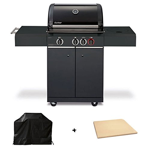 Enders Gasgrill Kansas Black 3 K Turbo inkl. Pizzastein