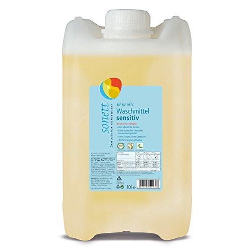 Sonett Waschmittel Sensitiv: Rein pflanzliche Tenside, ohne petrochemische Inhaltsstoffe, 100% biologisch abbaubar, 20 l