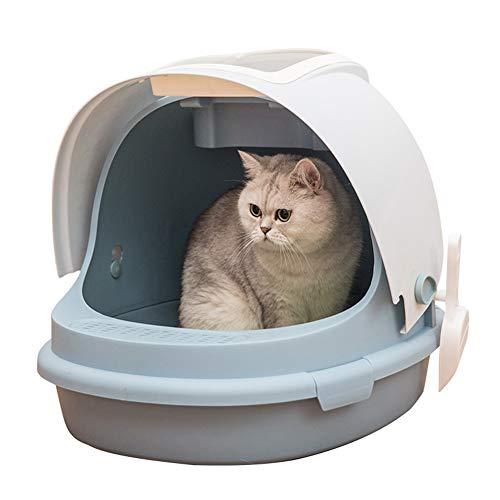 Toilette per gatti lettiera del Gatto, Grande Spazio Completamente Chiusa Toilette Gatto, rifornimenti del Gatto, Deodorante Anti-Schizzi Gatto Sandbox