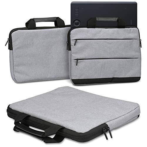 Schutzhülle für Wacom Intuos Pro L PTH-860 Grafiktablett Tasche Sleeve Case Stifttablett Hülle in Grau oder Blau Tragetasche mit Griffen Universal Schutztasche, Farbe:Grau