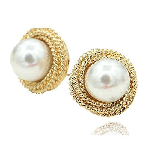 Coreano moda donna orecchini/Semplice selvatici orecchino di perla gioielli-A