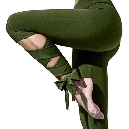 Pantalon à Séchage Rapide Aérobic De Yoga Sept Sangles Survêtement Rawdah Mode Femmes Sports Gym Yoga Entraînement Leggings Cropped Fitness Lounge Pantalon Athlétique Fitness Leggings Pantalon Athleti Armée vert