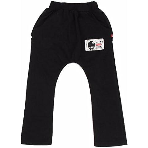 para los niños pantalones pantalones,RETUROM nuevo estilo fresco infantil para niños muchachas de los muchachos de la cremallera de los pantalones de los dientes de tiburón Harem