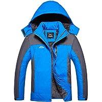 Monllack Unisex Invierno Fleece Interior Impermeable Chaqueta con Capucha Deporte al Aire Libre Que va de excursión de Trekking Escudo de esquí Chaqueta de Abrigo