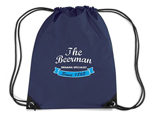 T-Shirtshock - Mochila Budget Gymsac BEER0285 The Beerman, Talla Capacidad 11 litros