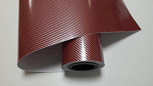 2 D Rot Silber Carbon Autofolie 100x152cm Blasenfrei mit Luftkanäle Gratis Montageanleitung 12,99€/1qm