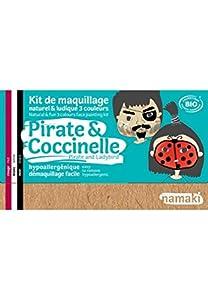 namaki K3PC1 - Kit de maquillaje para disfraz de niños, unisex, 3 colores, color rojo, blanco y negro