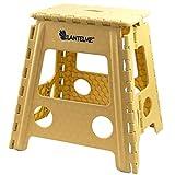 Lantelme Klapphocker bis zu 120 kg belastbar. Hocker aus Kunststoff Farbe beige Wetterfest für Haushalt, Garten und Camping