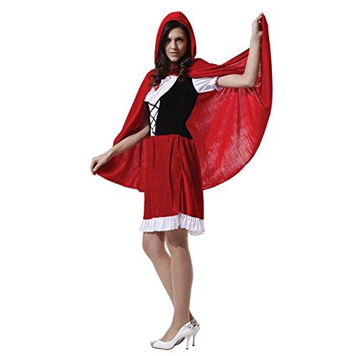 Sexy Kostüm Riding Hood - LLY Halloween Cosplay Adult Christmas Kostümfest darstellende Kostüm Red Riding Hood-Kleidchen, Picture Color