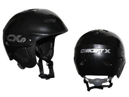 Concept X Pro - Casco para deportes acuáticos (carbono), color blanco o negro gris oscuro Talla:large