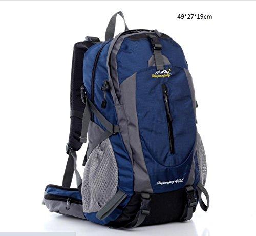 LQABW Tempo Libero All'aria Aperta Nylon Impermeabile Durevole Escursionismo Spalla Borsa Da Viaggio Zaino Alpinismo Sport Esterni Di Corsa Della Spalla Sacchetto Di Alpinismo Del Sacchetto 40L,Blue Blue