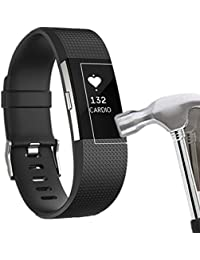 Película Protector Fitbit Charge 2,Culater 6PC HD Películas Protector Pantalla para Fitbit Charge 2