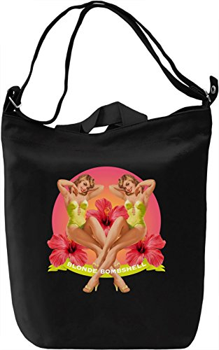 PIN UO BLONDE Leinwand Tagestasche Canvas Day Bag| 100% Premium Cotton Canvas| DTG Printing| (Bombshell Pin)