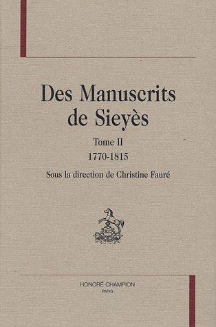 des-manuscrits-de-sieyes-tome-2-1770-1815-pages-darchives