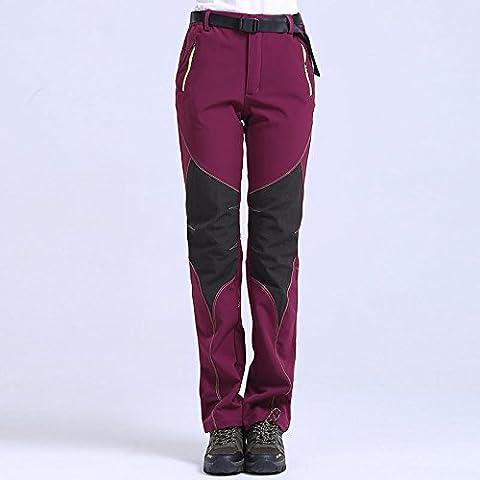 Al aire libre impermeable cortavientos Gore-Tex soft shell para hombres y mujeres mantener el calor en otoño e invierno compuesto de pantalones de trekking