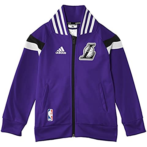 Adidas Winter Hoops Anthem - Chaqueta de running para niño, color morado, 128 cm