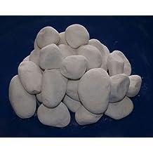 Blanco piedras decorativas para chimeneas de gel y etanol (30)