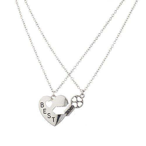 lux-accessoires-lot-de-2-chaines-avec-pendentifs-meilleurs-amis-pendentif-coeur-et-cle