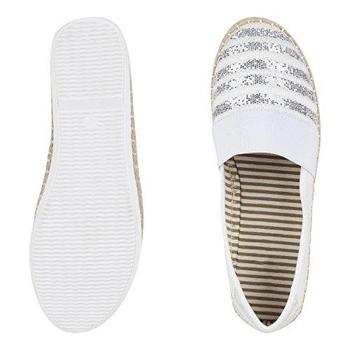 napoli-fashion , Espadrilles femme Weiß
