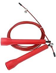 3M Corde à sauter avec câble réglable pour fortifier la santé Rouge