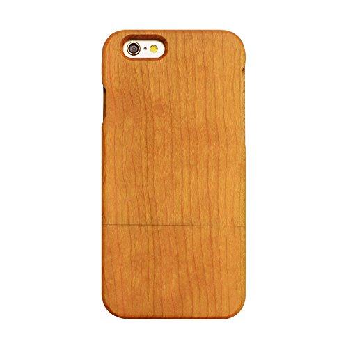 Natura Custodia in Legno iPhone 5/5S/SE, Skitic Natural Wood Case Duro Bumper Protettiva Cover Copertura Per iPhone 5/5S/SE Smartphone - Noce Legno di ciliegio
