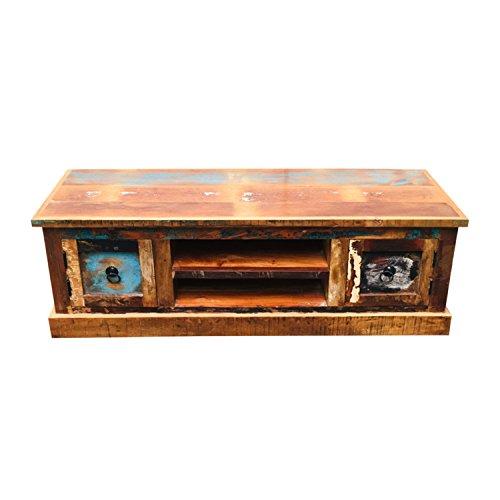 TV-Schrank Lowboard | TV-Board Vintage | Low Board Fernsehtisch Massivholz | Breite: 120 cm | Tiefe: 40 cm | Höhe: 40 cm |