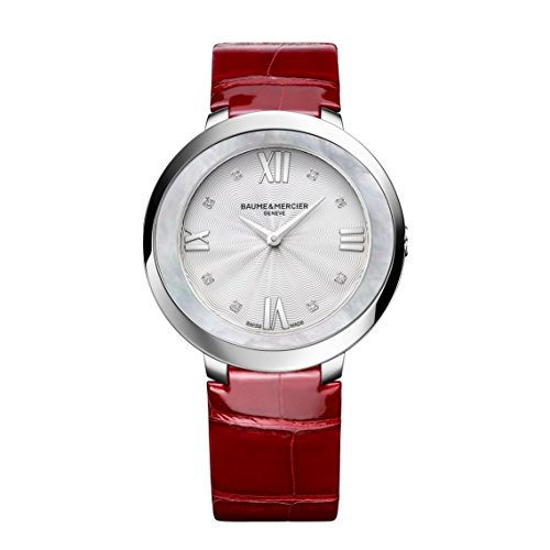 Baume & Mercier Promesse Damen-Armbanduhr Diamant 34.4mm Schweizer Quarz 10262