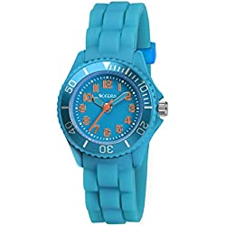 Tikkers Unisex Quartz Watch with Blue Dial Analogue Display and Blue Silicone Strap TK0060
