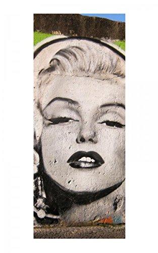 Türaufkleber Marilyn Monroe Graffiti Portrait Tür Bild Türposter Türfolie Türtapete Poster Aufkleber 15A545, Türgrösse:90cmx200cm