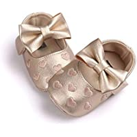 Bold N Elegant PU Leather Bow Heart Baby Girl Birthday Moccasin Bootie Shoes Footwear for Infant Toddler Girls