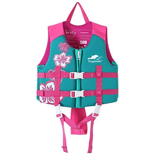 Gogokids Kinder Schwimm Weste - Kleinkind Schwimm Hilfer Float Suit Bojenanzug Jungen Mädchen Bademode Bojen-Badeanzug UV-Schutz -