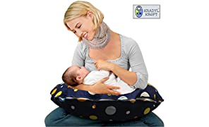Kradyl Kroft 5 in 1 Magic Polka Baby Feeding Pillow with Detachable Cover