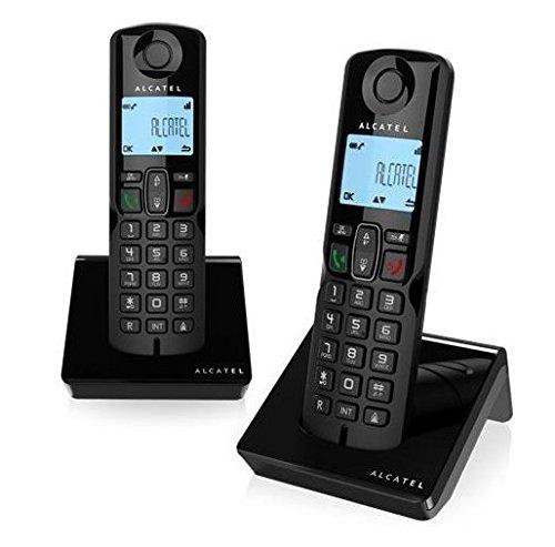 Alcatel - S250 Duo dect identificador Llamadas Negro