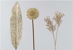 12er-SET Aspleniumblatt Prisma altsilber 90 cm