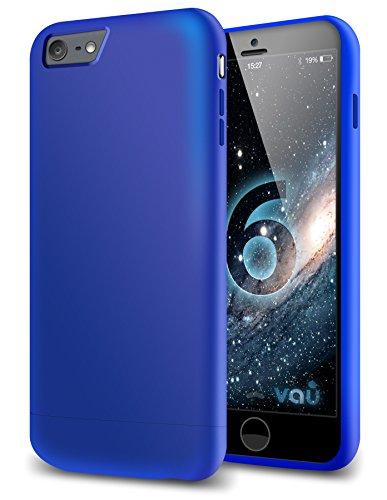 vau Snap Case Slider matt Blue - zweigeteiltes Hard-Case kompatibel zu Apple iPhone 6 (Hülle blau hart mit Innenfutter) (6 Case Case-mate Iphone Von)