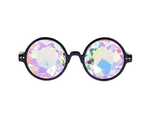 DODOING Kaleidoscope Gläser, Kaleidoskop Brillen, Rainbow Rave Prism (Halloween Brillen)