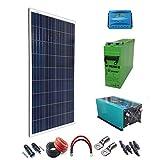 Kit solar 600W Stunde Laderegler-PWM 40A Wechselrichter 3000W Onda reine Akku AGM tfs-250ah