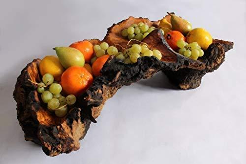 Holzschale, Hand geschnitzt Jahrhundert alten Olivenholz, einzigartiges Geschenk für Geburtstag, Hochzeit, Jubiläum, Haus Erwärmung. Gratisversand. -