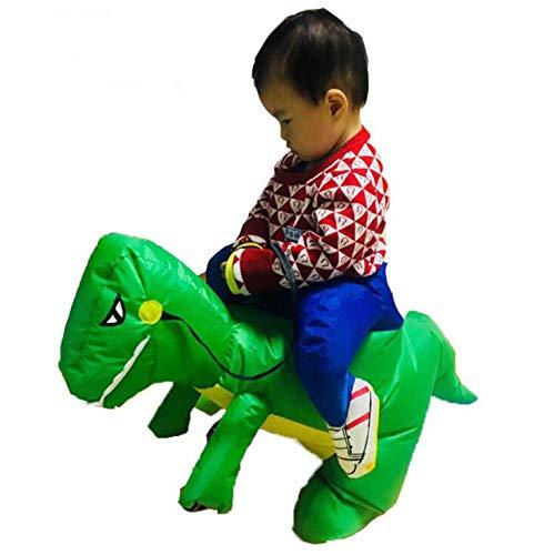 GAX Halloween Kinderkleidung Dinosaurier Aufblasbare, Erwachsene Performance-Kostüme, Halloween-Kostüm-Party, Halloween-Geschenke Lustige Kostüme,Green,Younger80to120cm