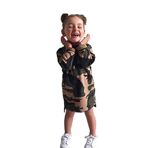 Amlaiworld Mädchen Langarm Tarnung Druck Kleider Kinder warm Shirt Kleidung,1-4 Jahren (18 Monate, - Tarnung Kostüm Kinder