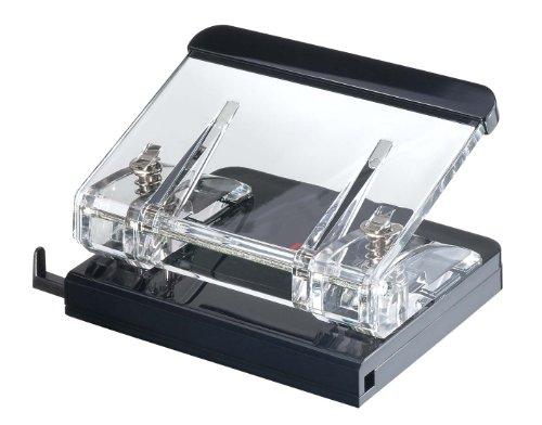 Wedo 601001 Acryl Locher Acryl Exklusiv (mit Anlegeschiene, glasklar/schwarz