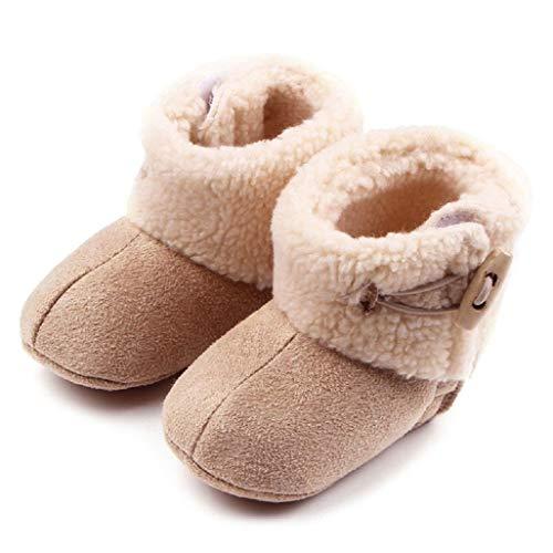 Auxma Baby schönen Herbst Winter warme weiche Sohle Schneeschuhe weiche Krippe Schuhkleinkind Stiefel (14cm(12-18 Monate), Khaki) (Schneeschuhe Pakete)
