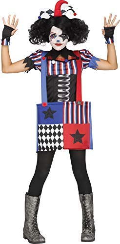 en Jack in A Box Clown Zirkus Halloween Kostüm Kleid Outfit 7-14yrs Jahre - Multi, 7-9 Years ()