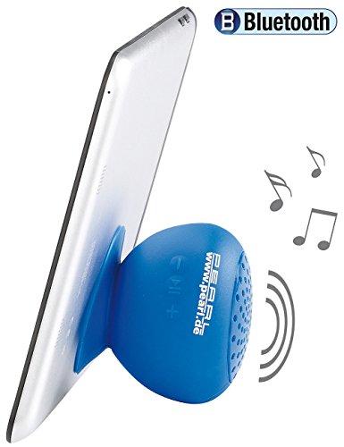 PEARL Duschlautsprecher: Aktiv-Lautsprecher; Bluetooth 2.1 f. Bad & Outdoor, wasserdicht, 6 W (Bluetooth Lautsprecher Badezimmer)