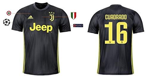 Juventus Turin Trikot Herren 2018-2019 Third UCL - Cuadrado 16 (XXL)
